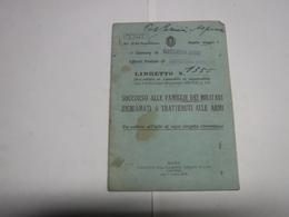CASTELNUOVO MAGRA  -- LA SPEZIA --- SOCCORSO ALLA FAMIGLIE DEI MILITARI  RICHIAMATI O TRATTENUTI ALLE ARMI - Documents