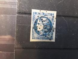 CERES DE BORDEAUX N0 46 B A , 20 C Bleu Foncé Obl GC 4233 De VILLEDIEU LES POELES, Manche Btb , Sur Fragment Cote 75 E - 1870 Bordeaux Printing