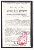 DP Julius Van Caneghem ° Ledeberg Gent 1882 † GentBrugge 1916 X Emma Braeckman / Druk P. Teurrekens - Images Religieuses
