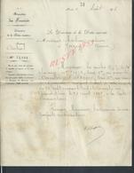 LETTRE DE PARIS 1898 MINISTÈRE DE FINANCES DETTE INSCRITE  A Mr MATHIEU NOTAIRE À JOIGNY YONNE : - Manoscritti