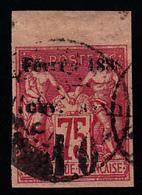GUYANE - N°  9 - SAGE - CARACTERES MANQUANTS - SURCHARGE DOUBLEE - SANS GOMME - BELLES MARGES - SIGNE BRUN - Guyane Française (1886-1949)