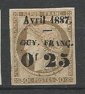 GUYANE  N° 5 NEUF(*) SANS CHARNIERE / Signé CALVES - Guyane Française (1886-1949)