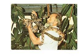 Cpm 72 - LA FLECHE - PARC ZOOLOGIQUE ZOO -  J. Bouillault Naturaliste Directeur - Serpent BOA CONSTRICTEUR VIVARIUM - Tigres