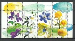 Estland Estonia 2004 Block Mi 21 Frühlingsblumen Flowers Michel 481 - 484 MNH - Estonie