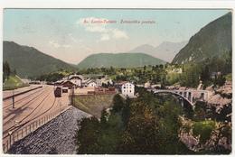 SV.LUCIJA TOLMIN ŽELEZNIŠKA POSTAJA BAHNHOF RAILWAY FERROVIA TRANSALPINA  1914 RAZGLEDNICA POSTCARD - Slovénie