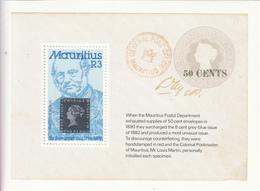 1979 Mauritius Sir Rowland Hill Centenary Of His Death  Souvenir Sheet Of 1 MNH - Maurice (1968-...)