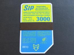 A ITALIA 1050 C&C P43 G - SIDA 3 8610 LIRE 3000 - USATA MAGNETIZZATA ORIGINALE - Public Advertising