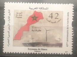 Morocco 2017 MNH Stamp - 42nd Anniv Of The Green March, Map - Marokko (1956-...)