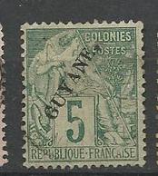 GUYANE  N° 19 OBL TB  / Signé CALVES - Guyane Française (1886-1949)