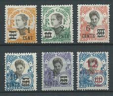 INDOCHINE 1922 . N°s 117 à 122 . Neufs * (MH) - Indochine (1889-1945)