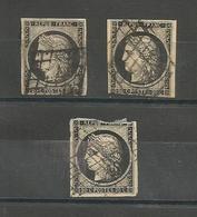 Cérès N° 3, Un Correct 2 Défectueux - 1849-1850 Ceres