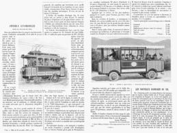 OMNIBUS AUTOMOBILES Pour Les SERVICES De VILLE  1900 - Transportation