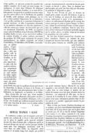 LA BICYCLETTE TRAINEAU à GLACE   1900 - Transportation
