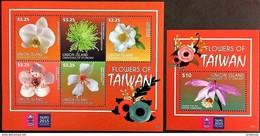 Union Island 2015**Mi. Klb.804-08,bl.79. Flowers Of Taiwan MNH [4;60,61] - Pflanzen Und Botanik