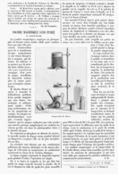 POUDRE MAGNESIQUE SANS FUMEE Et LAMPE-ECLAIR    1900 - Photographie