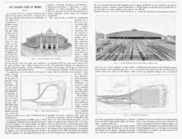 """LES GRANDES GARES Du MONDE """" LA GARE De BOSTON """"   1900 - Railway"""