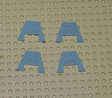 Lego Lot 4x Aile Coin Plate 3x4 Gris Ref 4859 - Lego Technic
