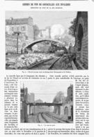 """LIGNE De CHEMINS De FER De L'OUEST DE """" COURCELLLES Au INVALIDES """" DEMOLITION DU PONT De La Rue DUFRENOY   1900 - Railway"""