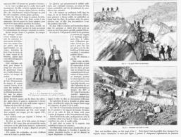 LES CHASSEURS ALPINS En HIVER  1900 - Militaria