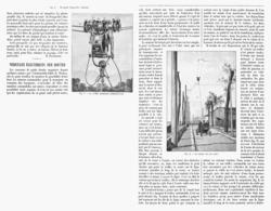 """VEHICULES ELECTRIQUES SUR ROUTES ( LE TROLLEY AUTOMOBILE """"LOMBART-GERIN """" )  1900 - Transportation"""