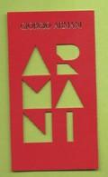 GIORGIO ARMANI * CARD PARFUM * NEU - Cartes Parfumées