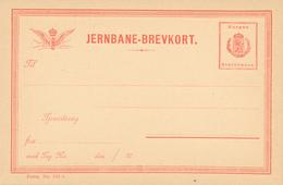 JERNBANE / Norge - BREVKORT  , Privatpost - Ganzsachen
