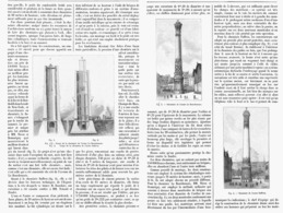 """ EXPOSITION 1900  ""  "" LES INTALLATIONS MECANIQUES "" LES CHEMINEES MONUMENTALES  1900 - Paris"