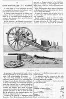 LE CANON DEMONTABLE De L'ETAT Du CONGO   1900 - Militaria