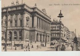 C P A - MARSEILLE - LA BOURSE ET LA CANEBIERE - ANIMÉE- TRAM - THIERRY & SIGRAND - 2495 - - Canebière, Centro