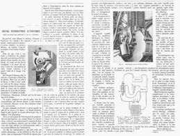 NOUVEL INTERRUPTEUR AUTOMATIQUE Pour ALLUMAGE Des MOTEURS à GAZ Et à PETROLE  1900 - Transportation