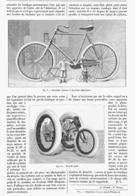 LES NAINS Et Les GEANTS Du CYCLISME   1900 - Transportation