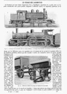 LE PESAGE Des LOCOMOTIVES    1900 - Railway