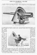LE CANON DE 120MM à TIR RAPIDE Systéme NORDENFELT  1900 - Militaria