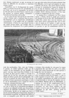"""UN CHEF-D'OEUVRE """" Un CROISEMENT De VOIE DE CHEMIN DE FER """"   1900 - Railway"""