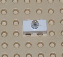Lego Brique Electrique Blanche Legere 1 X 2 Avec Eclairage Simple Ref 4767 - Lego Technic