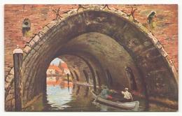BARQUE SUR UN CANAL - Peintures & Tableaux