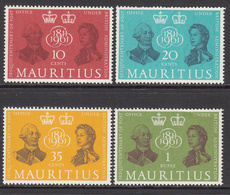 1961 Mauritius King George III & QEII Celebration Of Postal Services Set Of  4 MNH - Mauritius (1968-...)