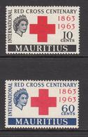 1963 Mauritius Red Cross Common Design Set Of 2 MNH - Mauritius (1968-...)