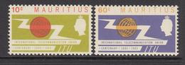 1965 Mauritius ITU Issue Common Design Set Of 2 MNH - Mauritius (1968-...)