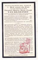DP Baccalaureus & Doctor Wijsbegeerte - EH Theophiel Van Brabandt 31j. ° Eeklo 1875 † 1907 / Gent Zottegem - Images Religieuses