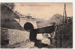 PODBRDO OB BAČI JUŽNA STRAN BOHINJSKEGA PREDORA TRANSALPINA RAILWAY TUNNEL   RAZGLEDNICA POSTCARD - Slovénie