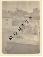 DINAN - AOUT 1929 - EMBARCADERE DES VEDETTES POUR LA RANCE -  PHOTO 9x12 Cms - BATEAU BCE - Places