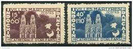 Indochine (1944) N 292 à 293 * (charniere) - Indochine (1889-1945)