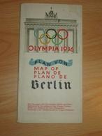 Olympia 1936 Plan Von Berlin - Maps Of The World