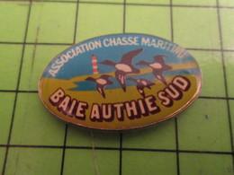 718B Pins Pin's / Rare & De Belle Qualité  THEME : ASSOCIATION / CHASSE MARITIME BAIE AUTHIE SUD - Beverages