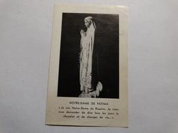 Notre-Dame De Fatima - Acte De Consecration. - Godsdienst & Esoterisme