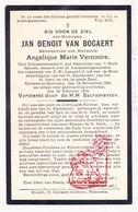 DP Gemeenteraadslid Jan Benoit Van Bogaert ° Moerzeke Hamme 1835 † 1915 X Angelique M. Vermeire - Images Religieuses