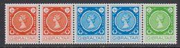 Gibraltar 1971 Automaten Marken Strip 5v ** Mnh (41485N) - Gibraltar