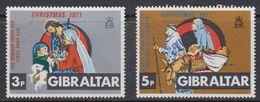 Gibraltar 1971 Christmas 2v ** Mnh (41485P) - Gibraltar