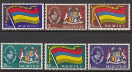 1968 Mauritius Independence Set Flags, Dodo's Coat Of Arms Set Of 6  MNH - Mauritius (1968-...)